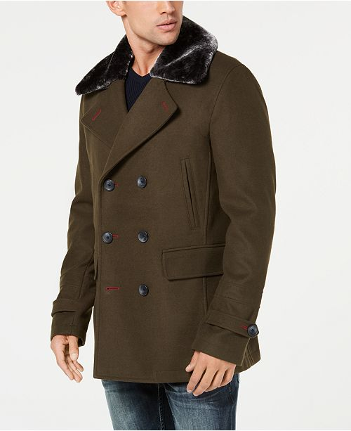 7a3a7b9dd7 ... INC International Concepts I.N.C. Men's Double-Breasted Pea Coat,  Created for Macy's ...