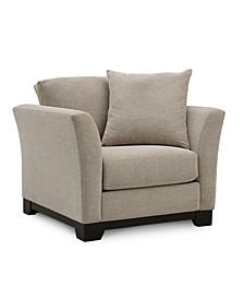 "Elliot II 32"" Fabric Arm Chair, Created for Macy's"