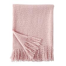 DKNY Mohair Throw in Blush