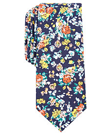 Bar III Men's Rowland Floral Skinny Tie, Created for Macy's