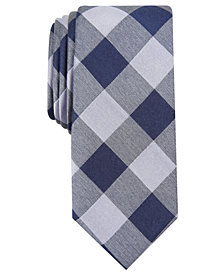 Bar III Men's Slim Buffalo Check Tie, Created for Macy's