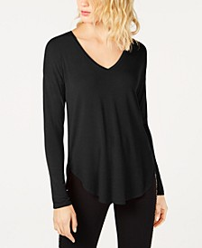 INC V-Neck Curved-Hem T-Shirt, Created for Macy's
