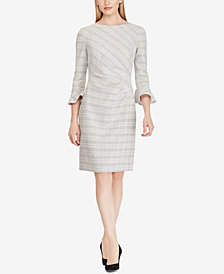 Lauren Ralph Lauren Petite Plaid Ruched Dress