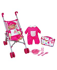Lissi Doll - Umbrella Stroller Set