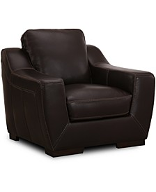 """CLOSEOUT! Gansey 42"""" Leather Chair"""