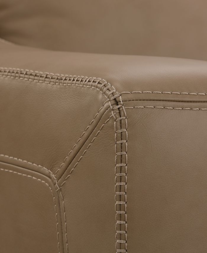 """Furniture CLOSEOUT! Gansey 42"""" Leather Chair & Reviews - Furniture - Macy's"""