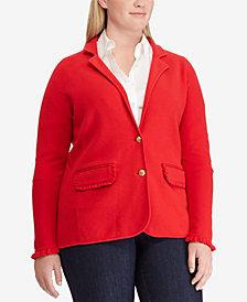 Lauren Ralph Lauren Plus Size Ruffled Blazer