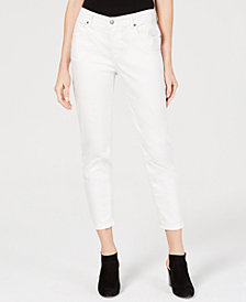 Eileen Fisher Organic Cotton-Blend Cropped Skinny Jeans