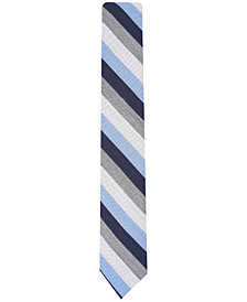 Bar III Men's Dupont Stripe Skinny Tie, Created for Macy's