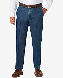Men's Big & Tall Stretch Denim Classic-Fit Flat Front Pants
