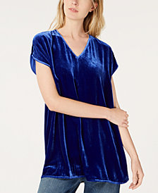 Eileen Fisher Velvet V-Neck Tunic