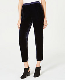 Eileen Fisher Velvet Relaxed-Fit Ankle Pants, Regular & Petite