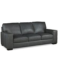 """Aloise 91"""" Leather Sofa"""