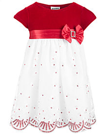 Blueberi Boulevard Baby Girls Velvet & Sequins Dress