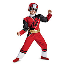 Red Ranger Ninja Steel Toddler Boys Muscle Costume