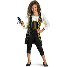 Pirates of The Caribbean 4 on Stranger Tides Angelica Big Girls Costume