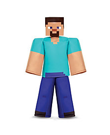 Minecraft Steve Prestige Big Boys Costume