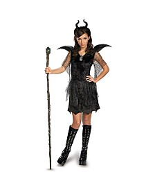 Maleficent Deluxe Black Big Girls Gown and Headpiece