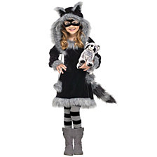 Sweet Raccoon Big Girls Costume
