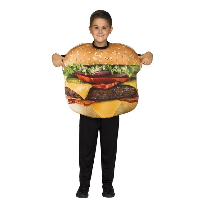 BuySeasons Cheeseburger Little and Big Boys or Girls Costume
