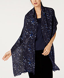 Eileen Fisher Printed Silk Wrap