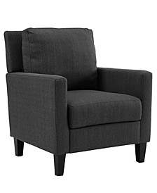 Pillow Back Accent Chair in Charcoal