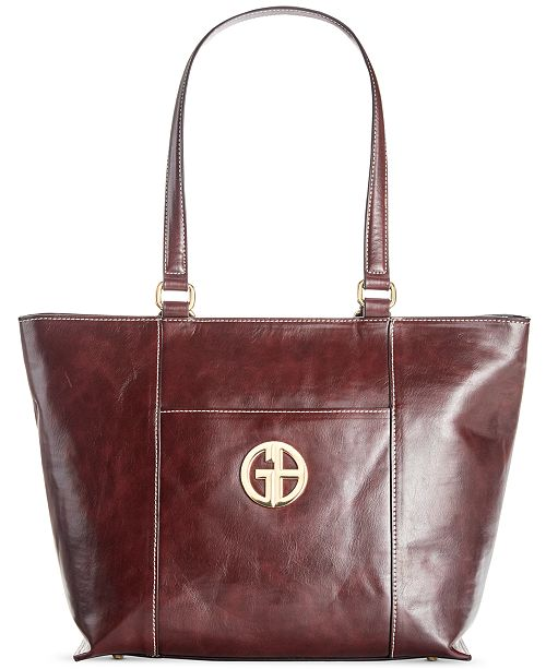 Giani Bernini Glazed Tote, Created for Macy's