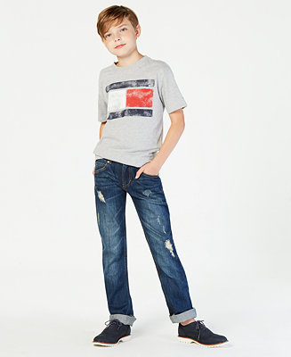 c45d6cd7f900 Tommy Hilfiger Tommy Flag Graphic-Print T-Shirt, Big Boys & Reviews - Shirts  & Tees - Kids - Macy's