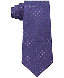 Kenneth Cole Reaction Men's Connect Square Slim Silk Tie