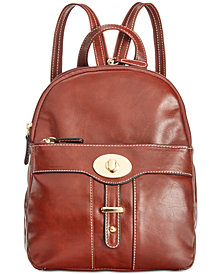 Giani Bernini Turn-Lock Glazed Backpack, Created for Macy's