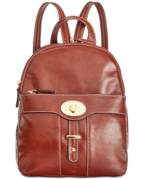 GIANI BERNINI | Giani Bernini Turn-Lock Glazed Backpack, Created for Macy's | Goxip