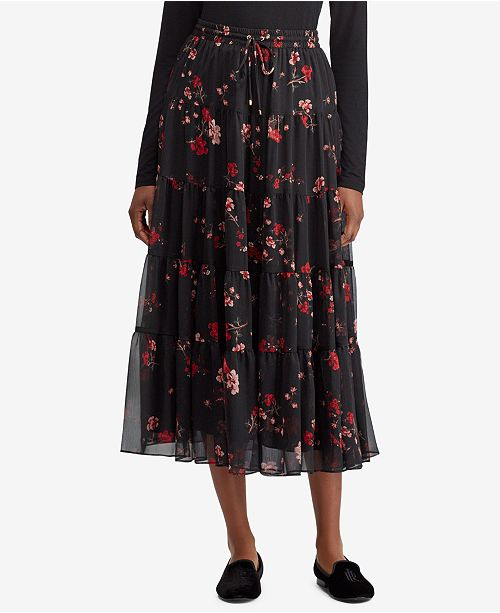 5ef006b732 Lauren Ralph Lauren Floral-Print Peasant Skirt & Reviews - Skirts ...