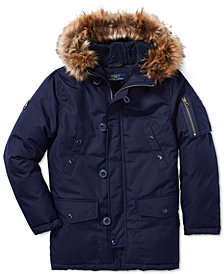Polo Ralph Lauren Big Boys Faux-Fur-Trim Down Parka