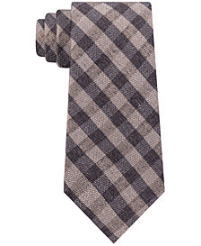 Michael Kors Men's Matte Texture Check Tie