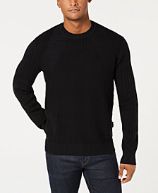 Sean John Men's Moto Rib Sweater