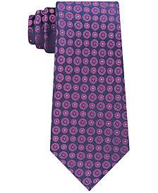 Calvin Klein Men's Modern Medallion 3 Slim Silk Tie