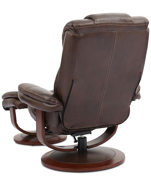 Furniture Faringdon Leather Euro Chair Amp Ottoman Amp Reviews