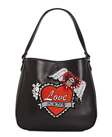 Betsey Johnson Love Forever Hobo