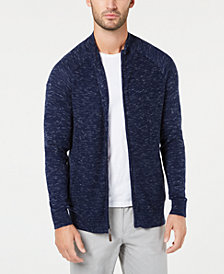 Club Room Men's Textured Full-Zip Cardigan, Created for Macy's