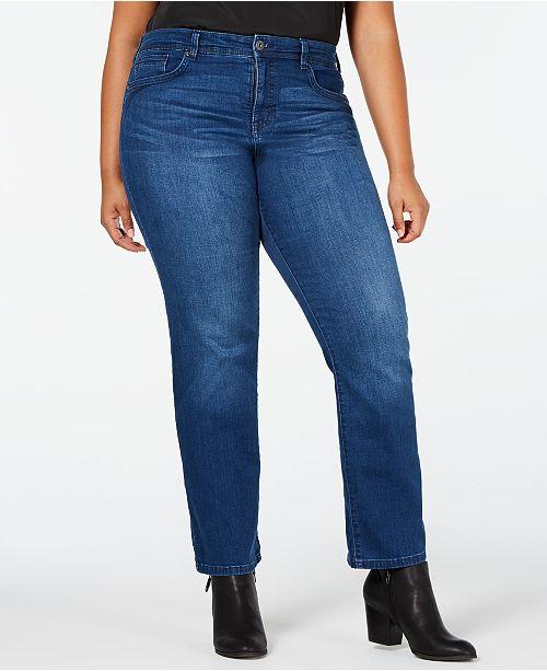 ad0f97187df62 ... Style   Co Plus Size Rail Tummy-Control Straight-Leg Jeans