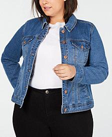 Style & Co Plus Size Basic Denim Jacket, Created for Macy's