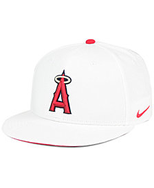 Nike Los Angeles Angels White Ripstop Snapback Cap