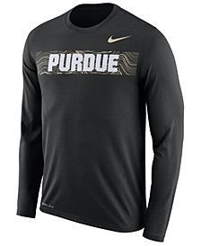 Nike Men's Purdue Boilermakers Legend Sideline Long Sleeve T-Shirt 2018