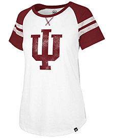 '47 Brand Women's Indiana Hoosiers Fly Out Raglan T-Shirt