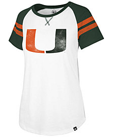'47 Brand Women's Miami Hurricanes Fly Out Raglan T-Shirt