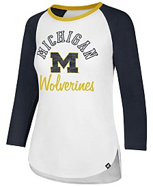 '47 Brand Women's Michigan Wolverines Script Splitter Raglan T-Shirt