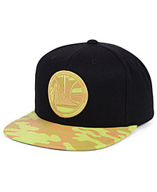 Mitchell & Ness Golden State Warriors Natural Camo Snapback Cap