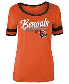 5th & Ocean Women's Cincinnati Bengals Rayon Scoop T-Shirt