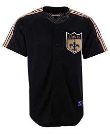 Mitchell & Ness Men's New Orleans Saints Winning Team Mesh Button Front Jersey