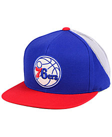 Mitchell & Ness Philadelphia 76ers Curved Mesh Snapback